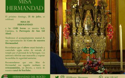 CULTOS   MISA DE HERMANDAD.